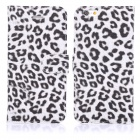 "ENKAY Protective PU Leather Case w/ Stand + Card Slot for IPHONE 6 PLUS 5.5"" - White + Black"