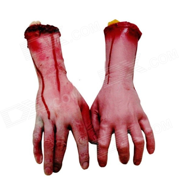 Lifelike Hand Stump Tricky Prop Toy for Halloween - Skin Color (Pair / M)