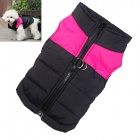Water-resistant Quilted Padded Warm Winter Coat Jacket for Pet Dog - Pink + Black (Size M)