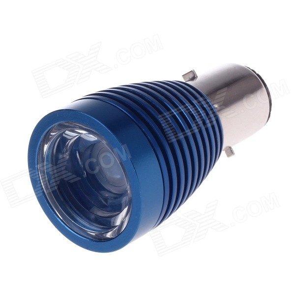 CYT BA20D Univeral 12V 6W 700lm 6000K White Light LED Front Lamp for Motorcycle - Blue + Sliver