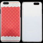 "Patterned Thin Hard Protective Back Cover Case for IPHONE 6 4.7"" - Red + White"