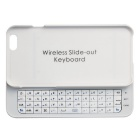 "Slim Hard Cover w/ Slide-out Wireless Bluetooth Keyboard for IPHONE 6 4.7"" - White"