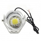 exLED High Brightness 10W 12V 850lm 7073K LED Cold White Light Motorcycle Headlamp - Silver