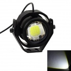 exLED High Brightness 10W 12V 850lm 7076K LED Cool White Light Motorcycle Headlamp - Black