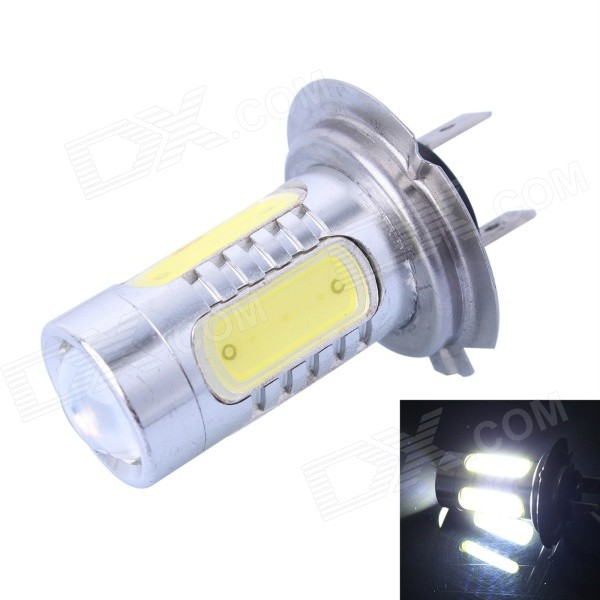 H7 7.5W 400LM 6000K White 5-COB LED Foglight / Headlamp / Tail Light for Car (DC10-24V)