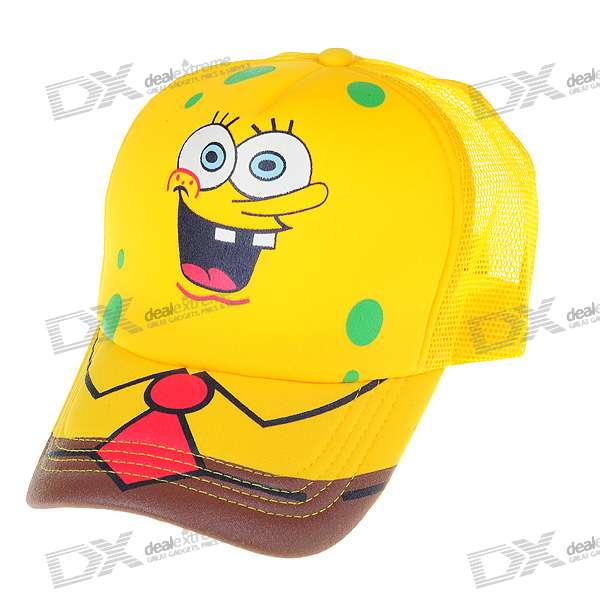 Cute Cartoon SpongeBob SquarePants Hat/Cap (Yellow)