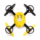 JXD 388 2,4 GHz 4-CH 6-Axis R / C Quadcopter Toy w / 4 Lights - Jaune + Noir