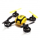 JXD 388 2.4GHz 4-CH 6-Axis R/C Quadcopter Toy w/ 4 Lights - Yellow + Black