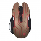 JIANSHENGYIZU K6-Jinse classique 2,4GHz 7-Key 800-1200-1600-2400dpi Wireless Gaming Mouse w / LED