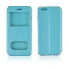 "Angibabe Double View Window Protective PU Leather Case Cover w/ Stand for 4.7"" IPHONE 6 - Blue"