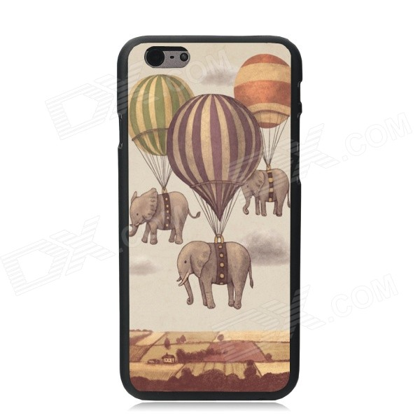 Elonbo Balloon Hanging Elephant Plastic Hard Back Cover for IPHONE 6 4.7 - Gray + Yellow elonbo beautiful stripe plastic hard back cover for iphone 6 4 7 inch