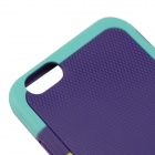 "SMKJ Stylish Protective Silicone Back Case for IPHONE 6 4.7"" - Purple + Green"
