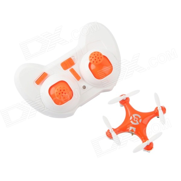 CX-10 Mini 2.4G 4-CH Radio Control Outdoor R/C Quadcopter w/ Gyro - Orange + White