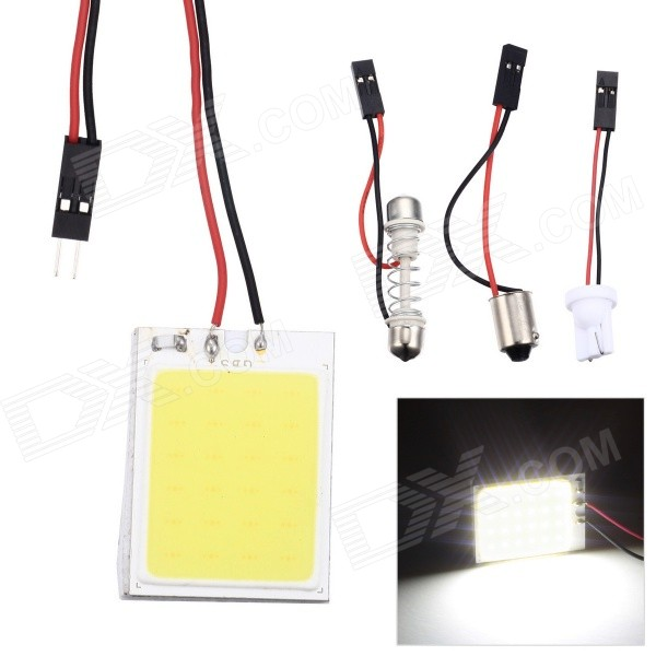 Merdia T10 / 1156 2.5W 6000K 150LM 24-COB LED White Light Reading Lamp for Car - White (2 PCS)
