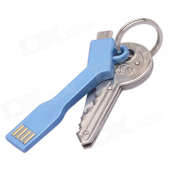 Key Knife + Creative Micro USB Cable Keychain Ring Portability USB Set at $5.43 by DealExtreme