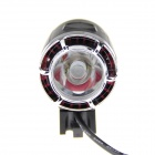 BK007 4-Mode 750lm Cool White Light LED Bike Lamp w/ Battery Pack - Black + Red (4 x 18650)