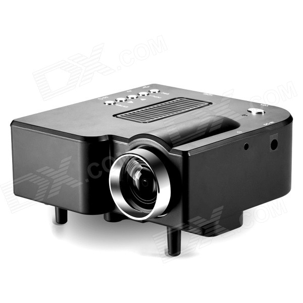 BarcoMax GP5S 28W Portable Mini LCD Projector w/ HDMI / SD Slot / AV / VGA / 3.5mm / USB - Black