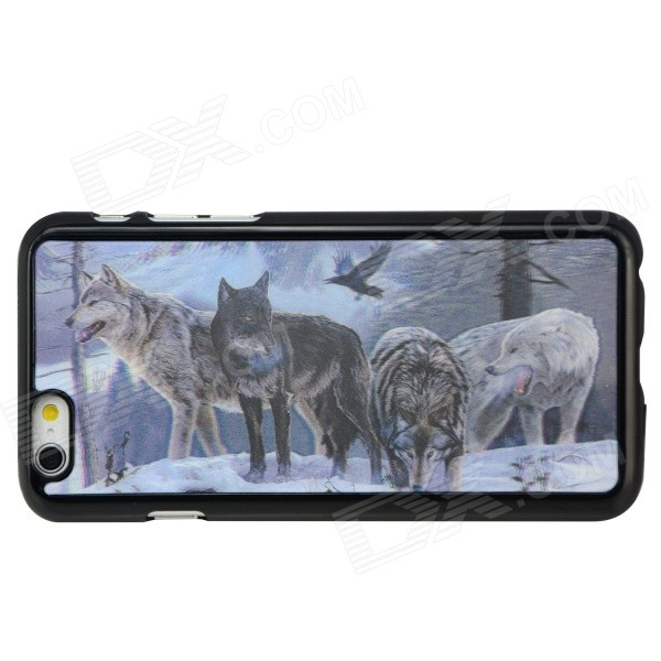 3D Wolf Pattern Protective Back Case Shell -for IPHONE 6 4.7 - Black + White аксессуар чехол rock jello protective shell for iphone 6 white 69439