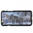 Buy 3D Wolf Pattern Protective Back Case Shell IPHONE 6 4.7 inch - Black + White