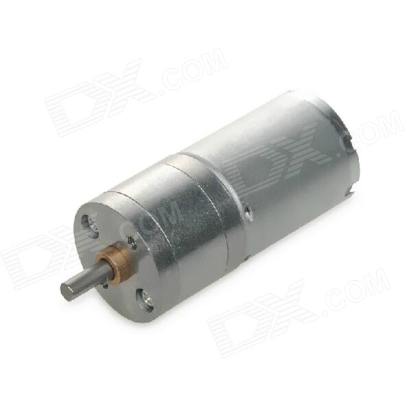 12V 60RPM Large Torque DC Gear Motor - Silver 775 dc gear motor 12v 24v miniature motor 35w large torque motor dc motor