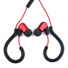 Zhenwo zw010 Sport Stereo Hook Style 3.5mm In-Ear Earphone for IPHONE / IPAD / MP3 - Red + Black