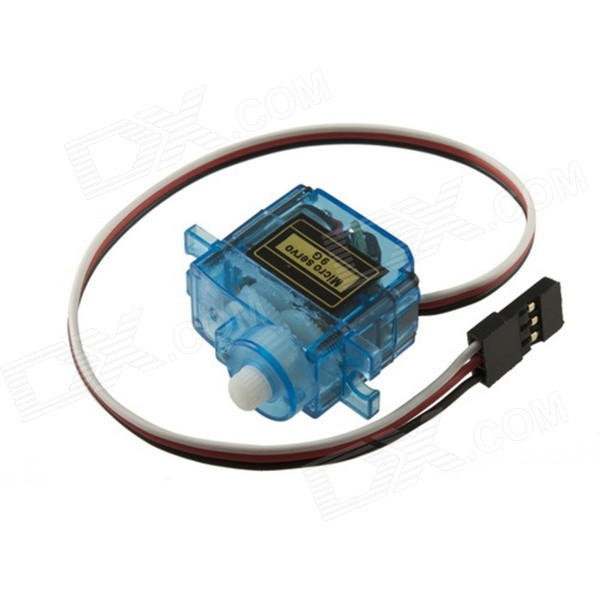 Replacement Steering Engine for Fixed-wing Helicopter / Mini Car / Small Ship Toy - Translucent Blue