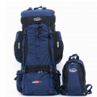 Family Parent-child Outdoor Mountaineering Leisure Backpack - Blue (2 PCS)