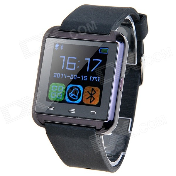 U8S Waterproof Wearable 1.48 Touch Screen Smart Watch w/ Bluetooth & Pedometer - Black 2016 new calls recorder for mobile phone record phone call on time for any phone size free shipping