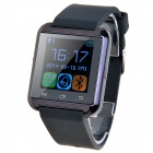 "U8S Waterproof Wearable 1.48"" Touch Screen Smart Watch w/ Bluetooth & Pedometer - Black"