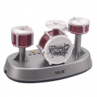 NEJE DG0006-1 Mini Finger Touch Drums Set / Juguete Musical - Plata + Red