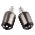 MZ Aluminum Alloy Motorcycle Handlebar Caps / Handle Plugs - Greyish Black (2 PCS)
