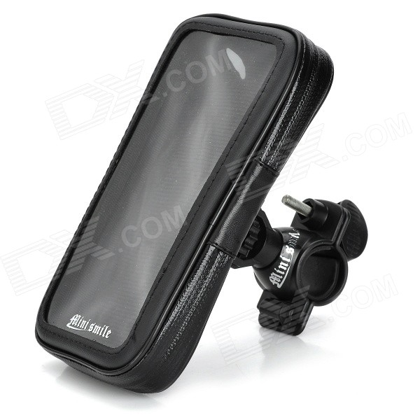 High Quality Outdoor Bicycle Waterproof Bag + Mount Holder for IPHONE 6 PLUS - Black lson ip5g fs bike mount holder waterproof bag for iphone 5 5c 5s black