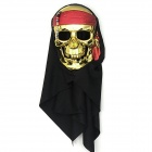 EX101782 Halloween Cosplay Pirate Style Plastic Mask - Golden + Black