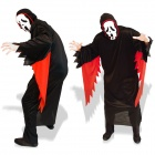 GQW1 Halloween Scary Cosplay Costume + Mask Set - Black