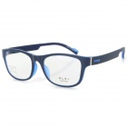 G8205 C9 Stylish Lightweight TR90 Frame PC Lens Sports Optical Eyeglasses - Black + Dark Blue