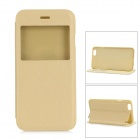 Protective Flip-open PU + PC Case w/ Stand / CID Window for IPHONE 6 - Golden