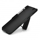 "Protective ABS Plastic Back Case w/ Stand for IPHONE 6 4.7"" - Black"