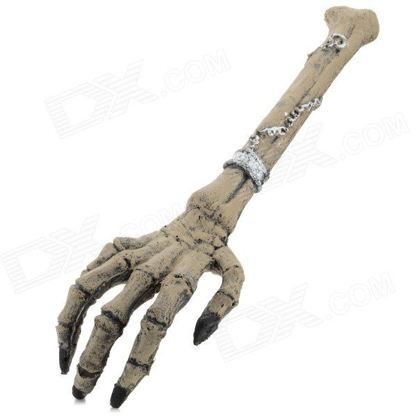 EX10172 Halloween Prop Cosplay Skeleton Hand - Dark Brown plastic standing human skeleton life size for horror hunted house halloween decoration