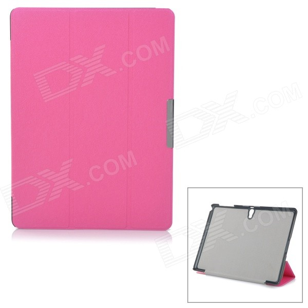 Protective Auto Sleep Case w/ Magnetic Closure + Stand for Samsung Tab S 10.5 / T800 - Deep Pink ntc5d 9 5d9 9mm