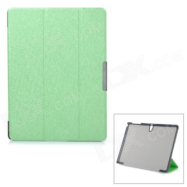 Protective Auto Sleep Case w/ Magnetic Closure + Folding Stand for Samsung Tab S 10.5 / T800 - Green