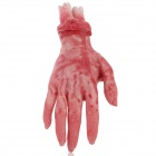 Halloween Scary Fake Bloody Prop Hand - Red