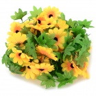 Country Style Christmas Decorative Simulation Flowers - Green + Yellow