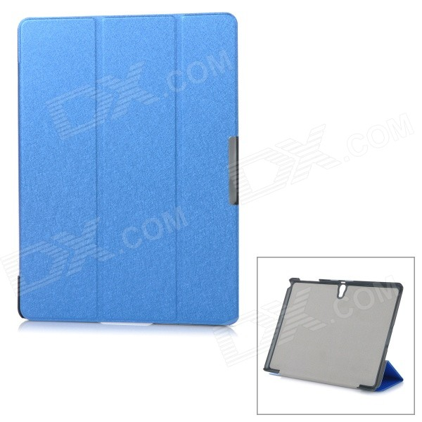Protective Auto Sleep Case w/ Magnetic Closure + Folding Stand for Samsung Tab S 10.5 / T800 - Blue - DXTablet Cases<br>Color Blue Brand N/A Model N/A Quantity 1 Piece Shade Of Color Blue Material PU Compatible Model Samsung Tab S 10.5 T800 Compatible Brand Samsung Type Cases with StandLeather Cases Style BusinessFashion Compatible Size Others10.5 Other Features Protects your device from dust scratches and shock. Packing List 1 x Case<br>