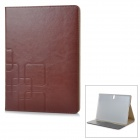 Flip-open PU + PC Case w/ Holder + Card Slot for Samsung Tab S 10.5 / T800 - Brown