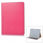 Flip-open PU + PC Case w/ Holder + Card Slot for Samsung Tab S 10.5 / T800 - Deep Pink