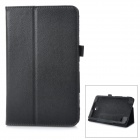 Flip-open Litchi Pattern PU Leather Case w/ Holder for 8'' Samsung Galaxy Tab 4 T330 - Black