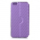 DULISIMAI Lattice Pattern Flip-open PU + TPU Case w/ Stand / Windows for IPHONE 6 PLUS - Purple