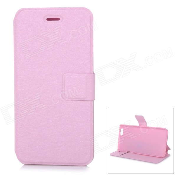 Protective Flip-Open PU Case Cover w/ Stand + Card Slot for IPHONE 6 4.7 - Pink protective flip open pu case cover w card slot stand strap for iphone 6 plus white black