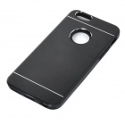 Protective Plastic + Aluminum Alloy Back Case Cover for IPHONE 6 - Black