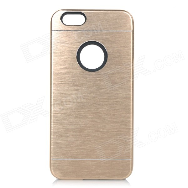купить Protective Plastic + Aluminum Alloy Back Case Cover for IPHONE 6 - Champagne Gold недорого